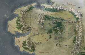 Middle-earth Map by SaMo-Art